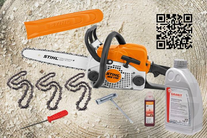 Stihl MS 170 Benzinkettensäge All in One Paket